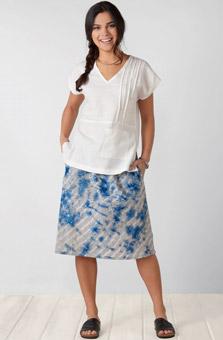Amita Skirt - Stone Azure