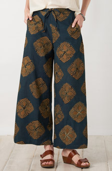Sangli Pant - Dark blue Gold