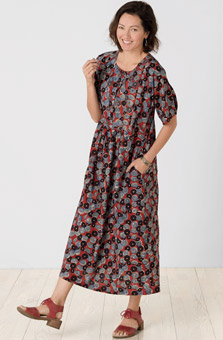 Long Sakshi Dress - Sangria