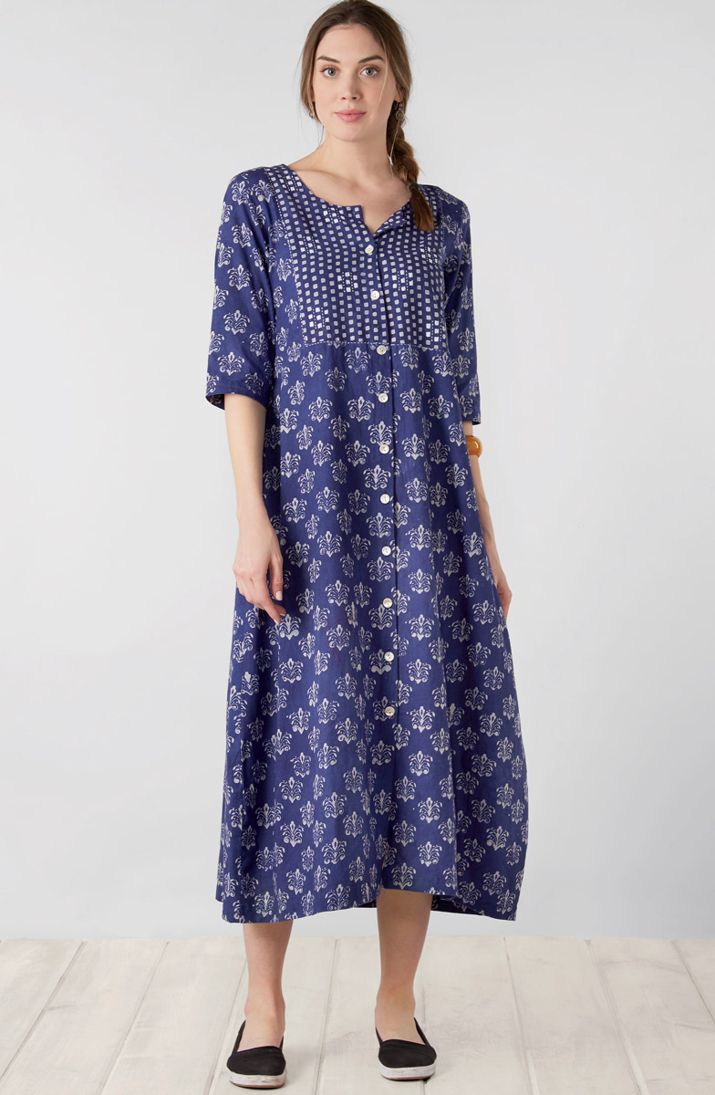 Suvrana Dress - Indigo