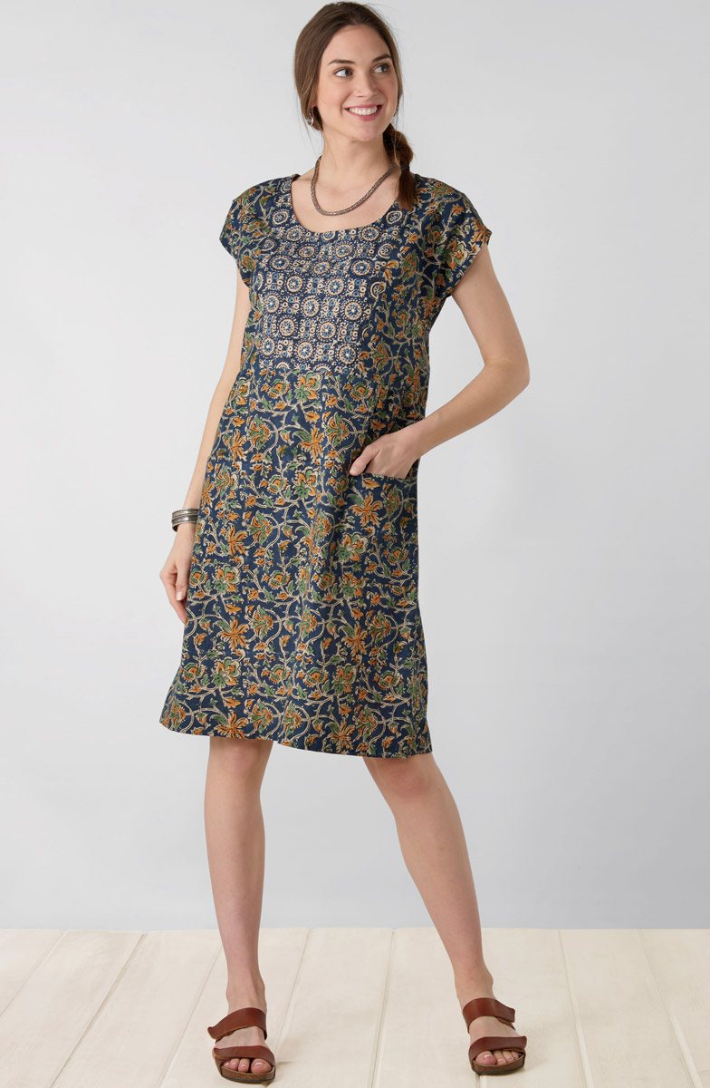 Nasreen Dress - Navy Multi