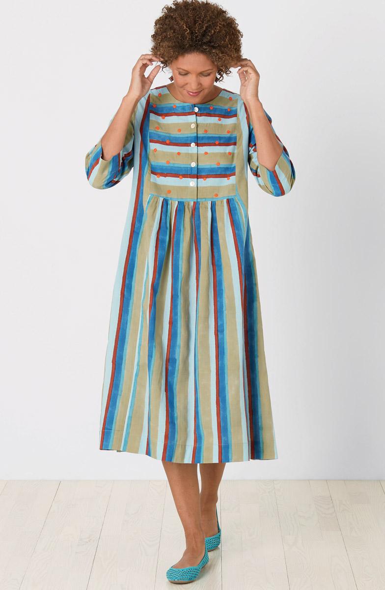 Vasanti Dress - Patina Multi