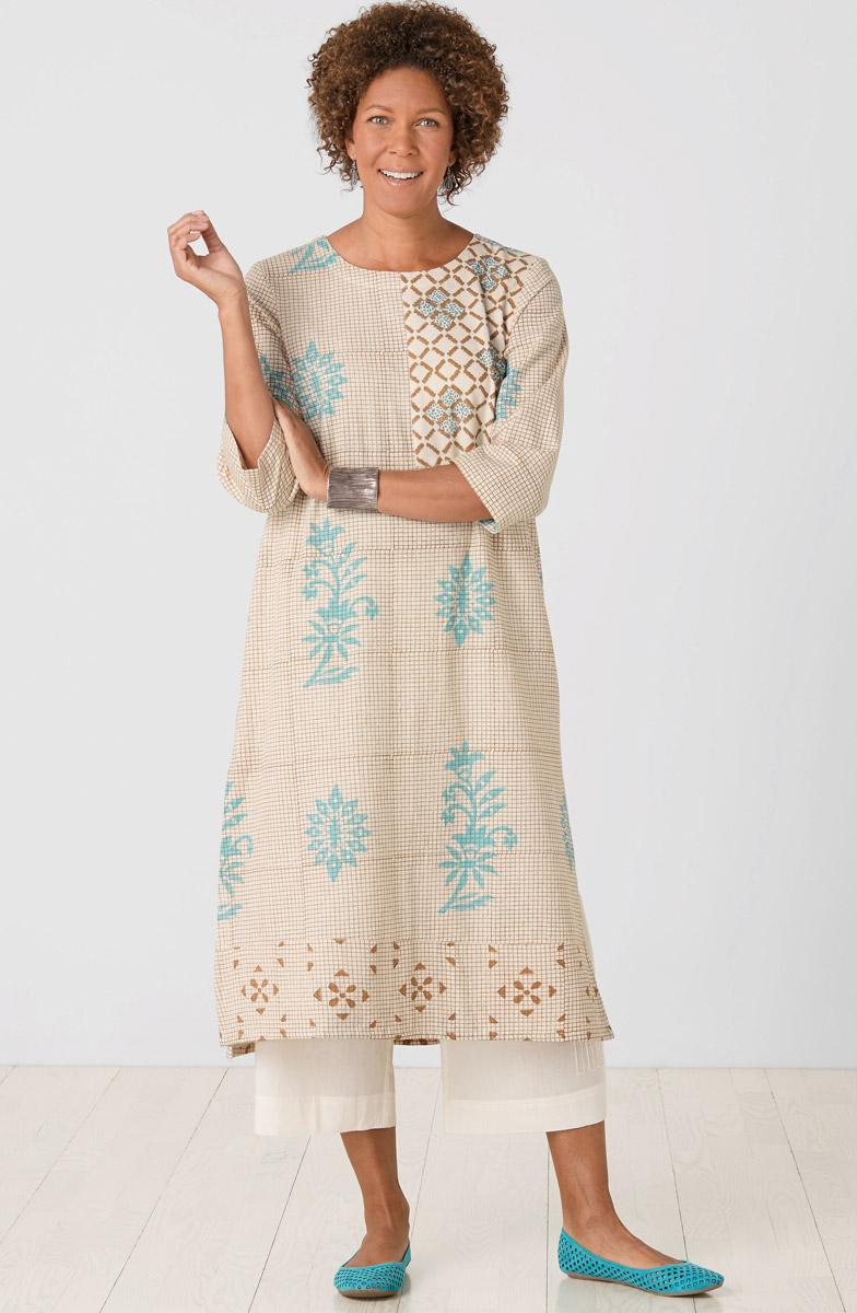 Long Rakhi Dress - Natural Multi