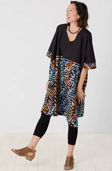 Irla Dress - Black multi