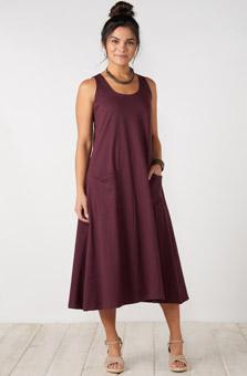 Supriya Dress - Plum