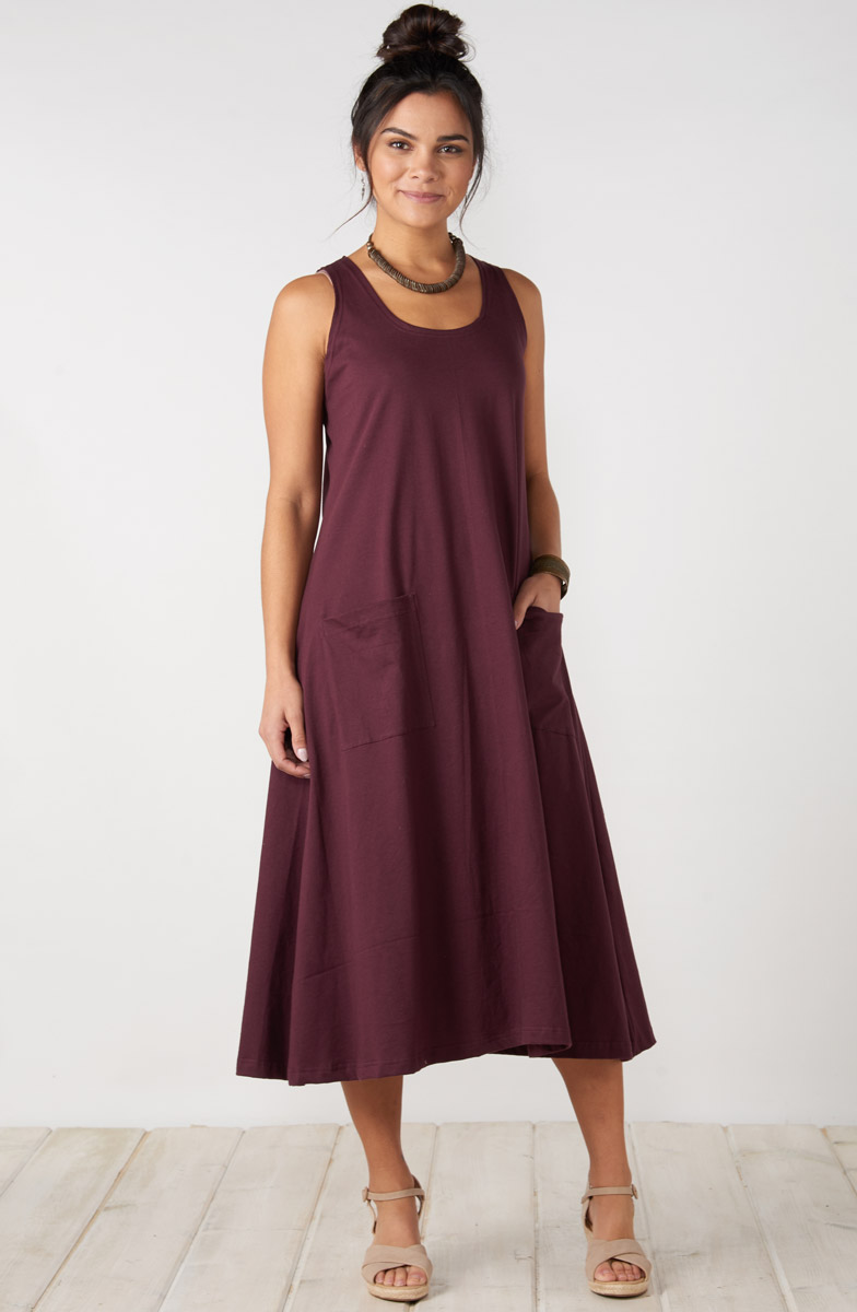 Supriya Dress - Plum