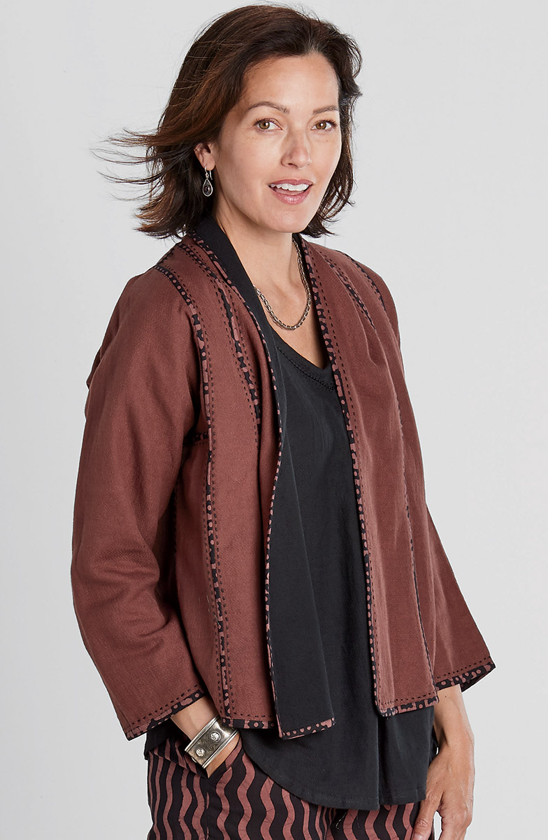 Reversible Naroda Jacket - Chestnut/Black