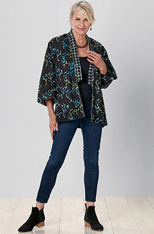 Reversible Vashi Jacket - Teal/Black