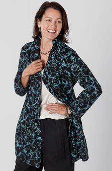 Ritu Jacket - Black Teal
