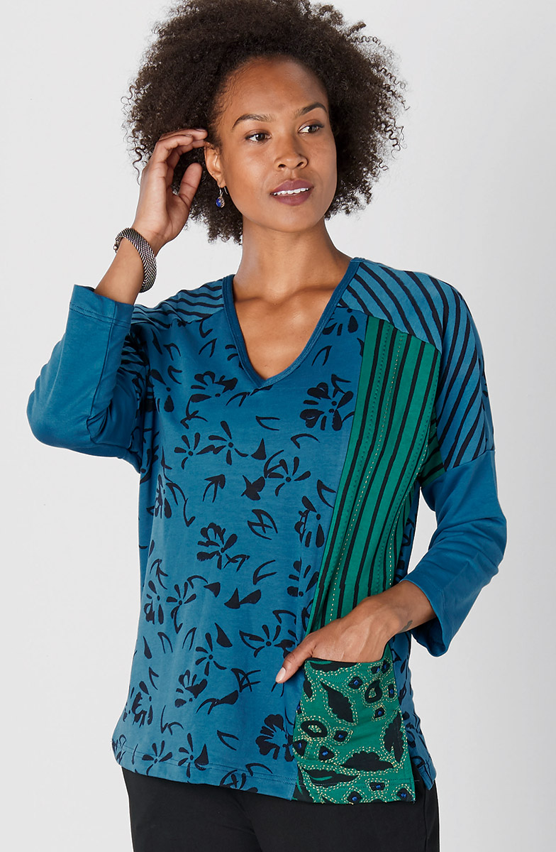 Kareena Tunic - Cerulean Evergreen heather