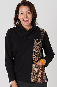 Piya Top - Black Multi