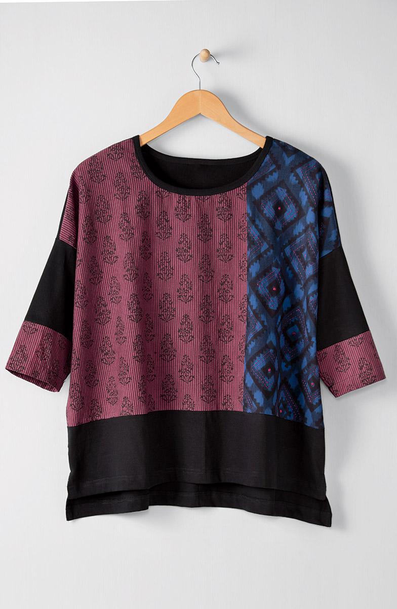 Nasima Top - Black Multi