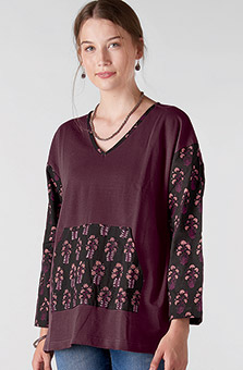 Suniti Pocket Tee - Plum