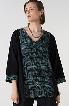 Ambika Tunic - Black Blue