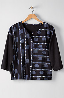 Mysore Top - Black Blue