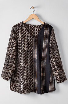 V-neck Divya Top - Black tan