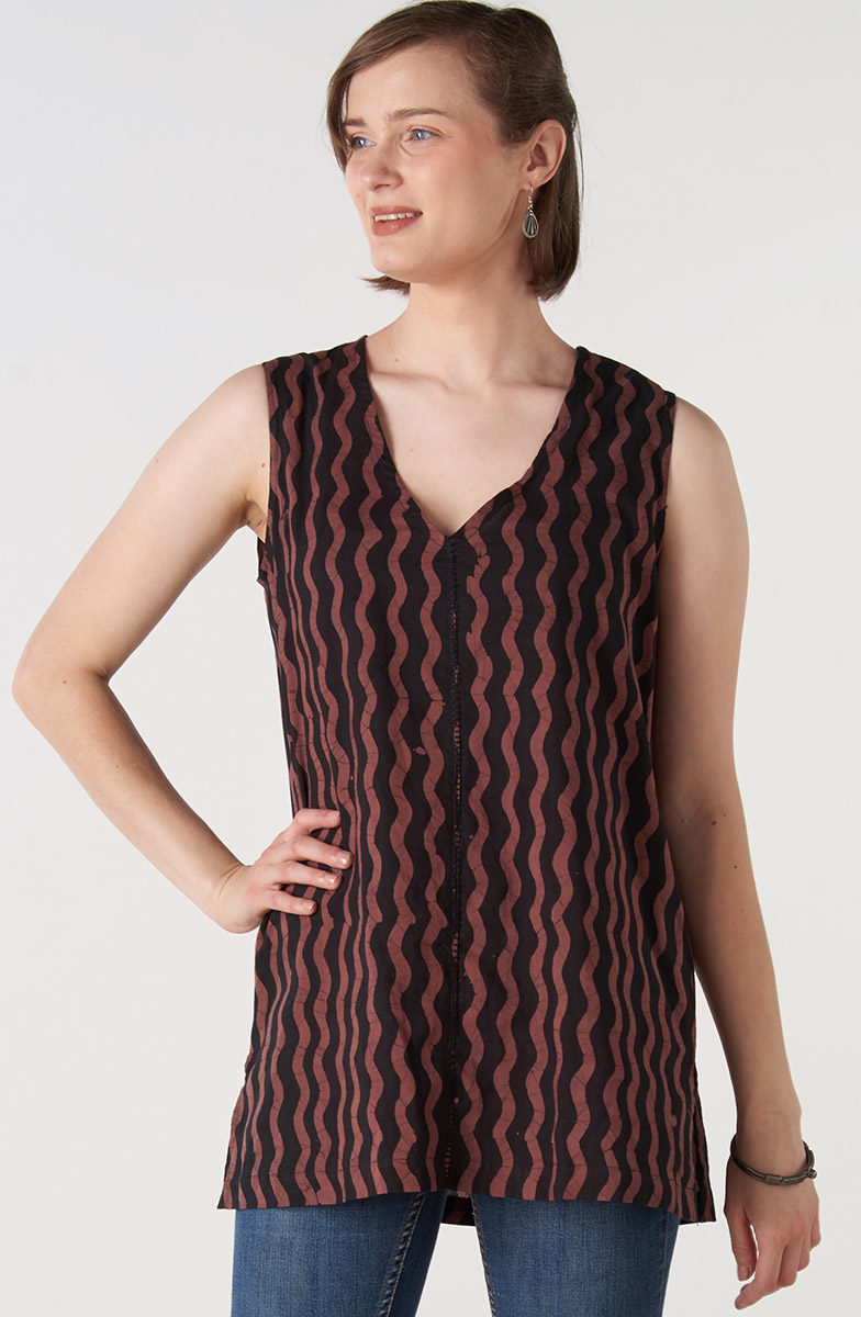 Chethana Top - Rosewood Black