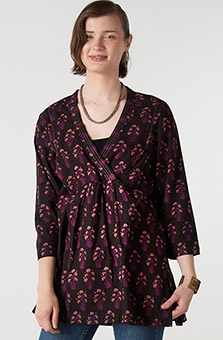 Barinya Tunic - Black Plum