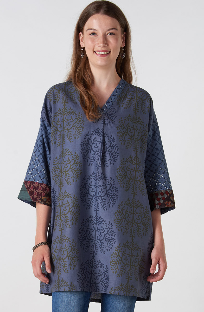 Kanpur Tunic - River blue