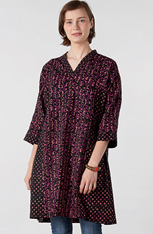 Sanika Kurta - Black Plum