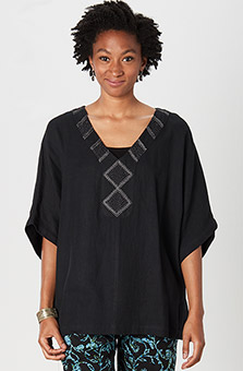 Ellora Kaftan Top - Black
