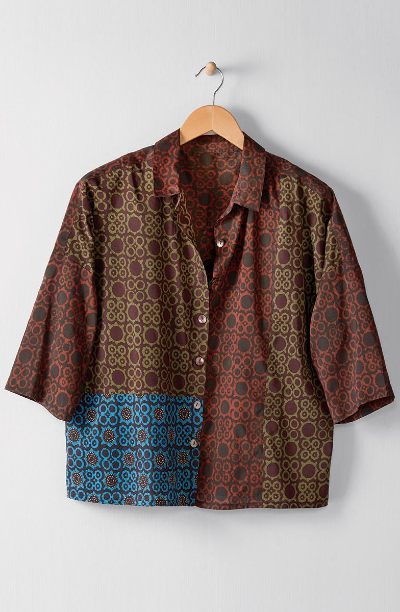 Praveer Shirt - Olive Multi