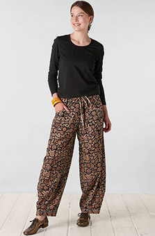 Dhulia Pant - Black Multi