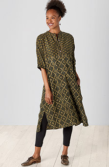 Salima Kaftan Dress - Olive