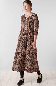 Tahira Dress - Black Multi