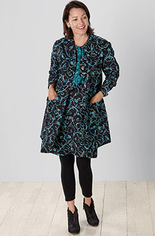 Prema Dress - Black Teal