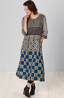 Kalindi Dress - Natural Multi