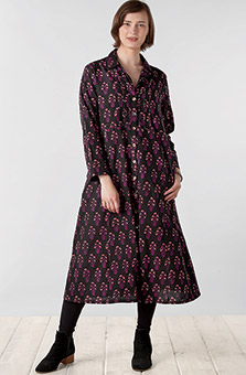 Anisha Dress - Black Plum