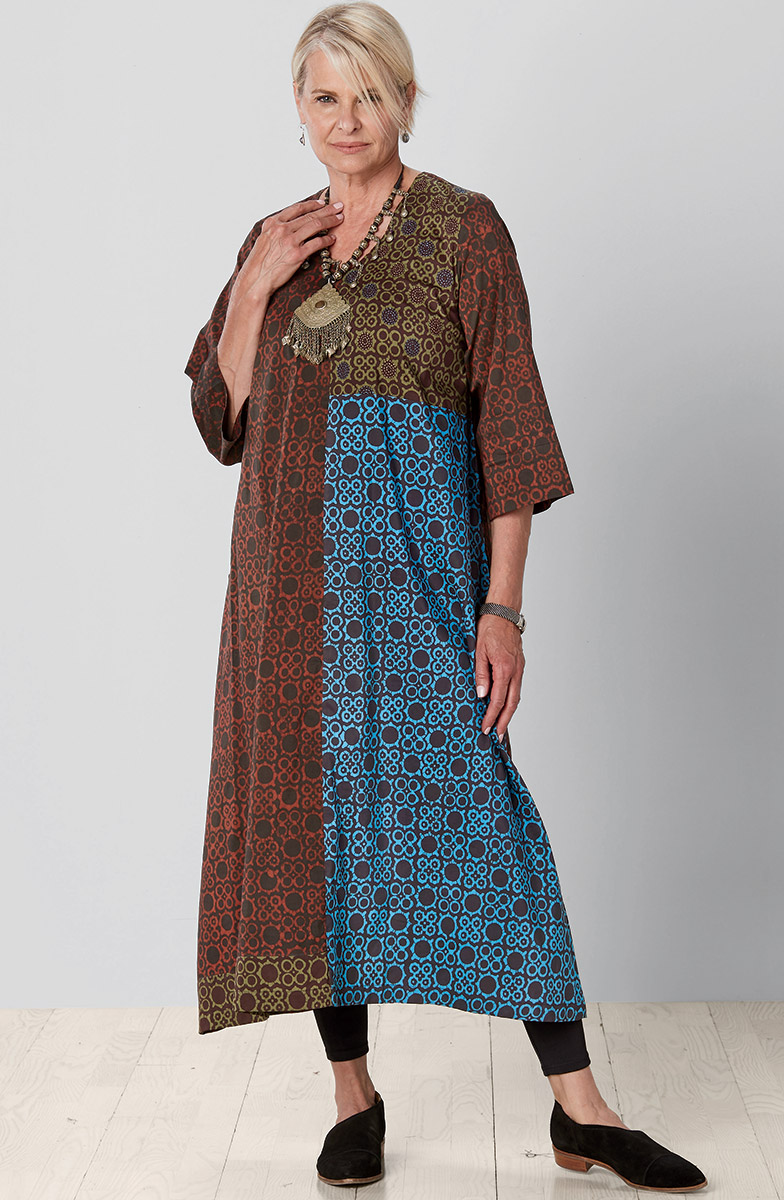 Zarine Dress - Brick Multi