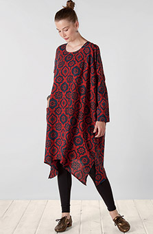 Pali Organic Dress - Red Indigo