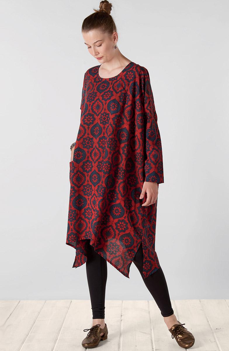 Pali Dress - Red Indigo