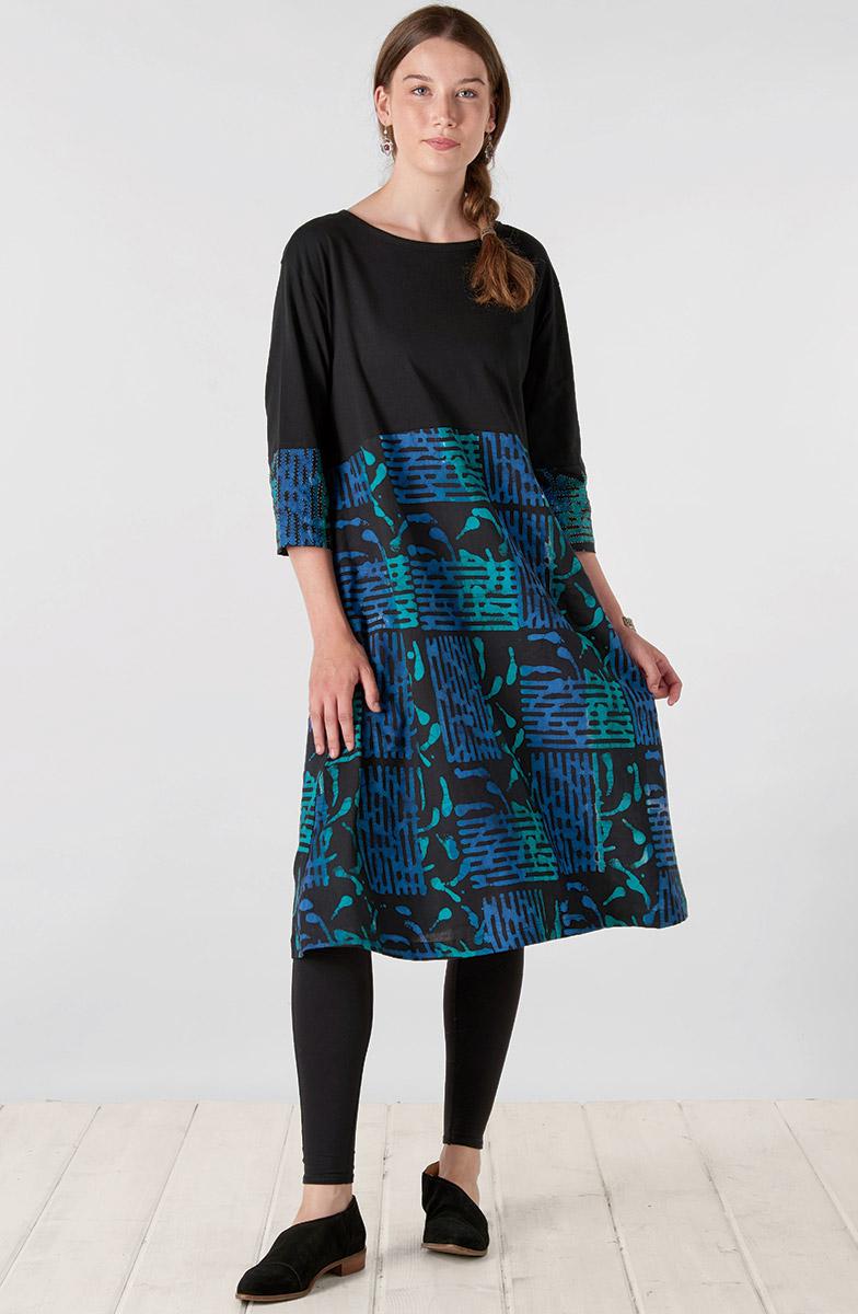Najma Dress - Black Multi