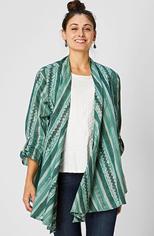 Sakina Jacket - Eucalyptus/Multi