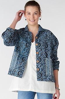 Jisha Jacket - Chambray blue