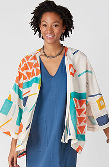 Sunita Jacket - White/Multi