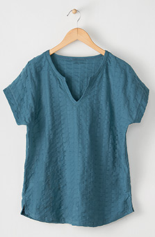 Notch-neck Tee - Teal