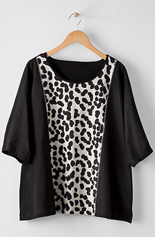 Eshana Tunic - Black/Natural