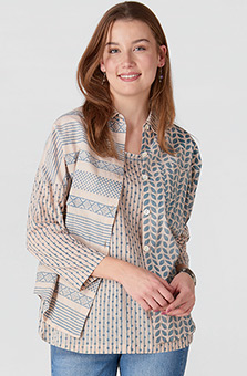 Maithree Big Shirt - Sand/River