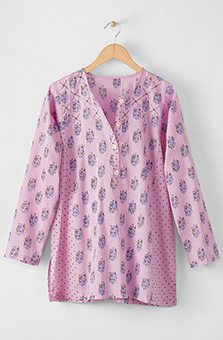 Sowmya Tunic - Crystal rose