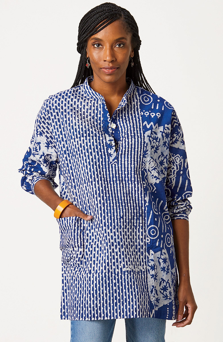 Kimaya Shirt - Sapphire