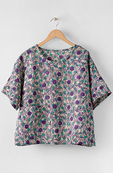Shalini Top - Flax/Purple