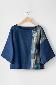 Sujaya Top - Indigo/Chindi