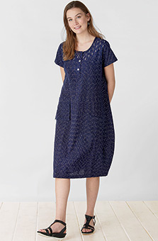 Parola Dress - Navy