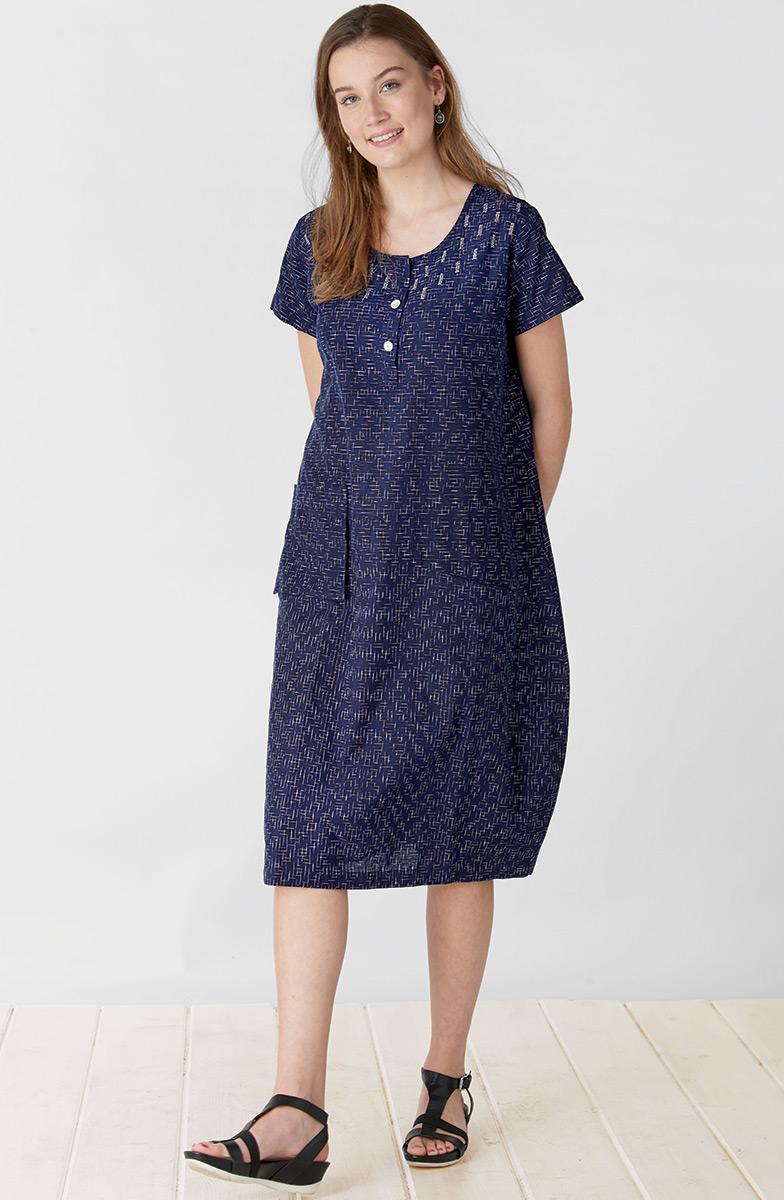 Parola Dress - Navy