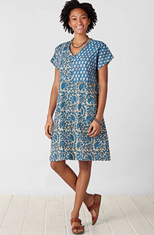 Rishika Dress - Cornflower/Multi