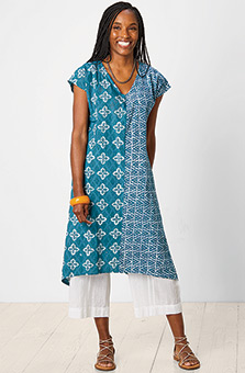 Shefali Dress - Capri teal